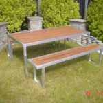 Table set Alloy wood inlay (1)