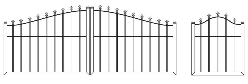 Driveway Gate DG-20 Pedestrian Gate PG-20