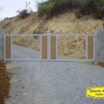Driveway Gates Style Custom Wire and Wood