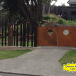 Driveway Gates Style Custom Wood and Steel