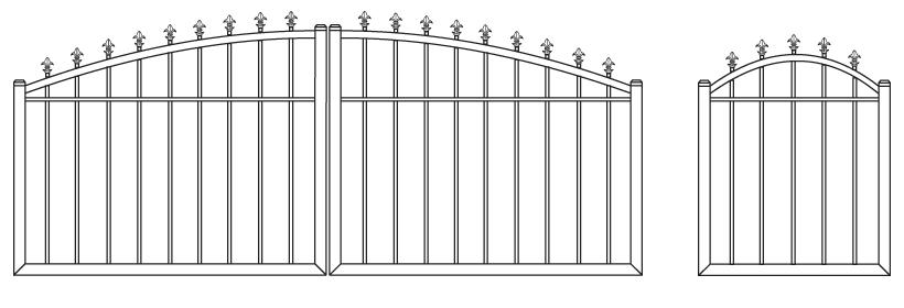Driveway Gate DG-12 Pedestrian Gate PG-12